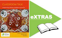 Classroom Talk book cover and eXtras icon