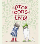 Book cover with a little girl and a frog