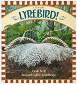 Book cover featuring a lyerbird with its plumage on displa