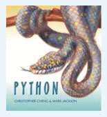 Book cover showing a python on a branch