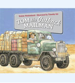 Book cover with drawing of Tom the mailman in his truck