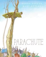 Book cover showing a platform in a tall tree
