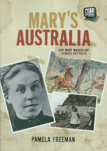 A photogrpah of Mary Mackillop and illustration on cover