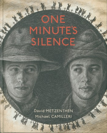 Book cover with an ANZAC and Turkish soldiers faces close