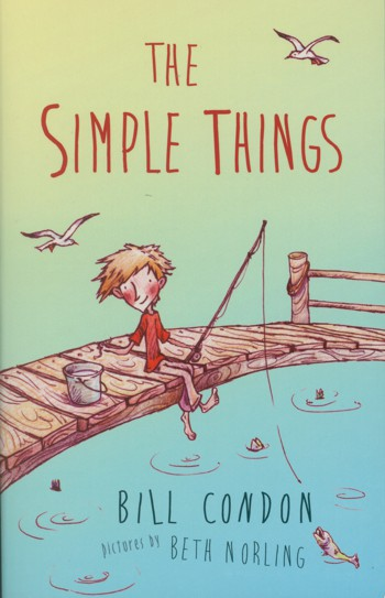 Drawing of a boy fishing on a pier on cover