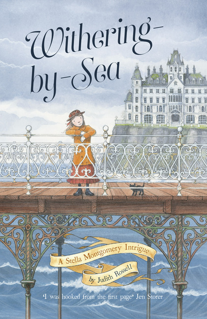 A girl on a pier with iron lattice work on cover