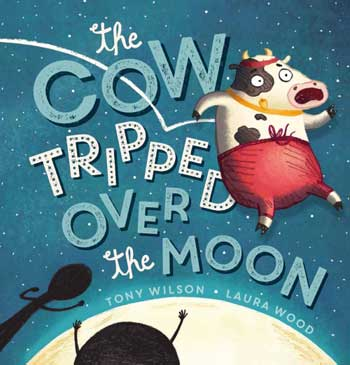 An orbiting cow wearing red pants on the cover