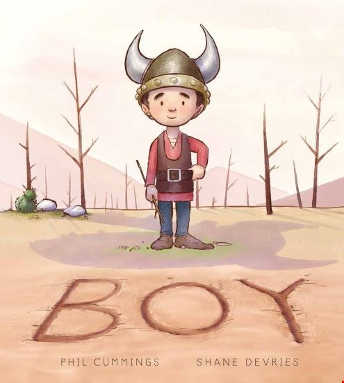 Bot in Viking costume on Boy cover