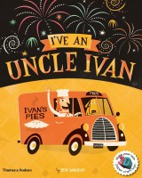 Book cover with a van with signage: 'Ivan's Pies