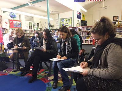 PL session in school library