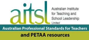 AITSL standards for teachers and PETAA resources