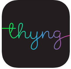 Thyng app icon linked to developers website