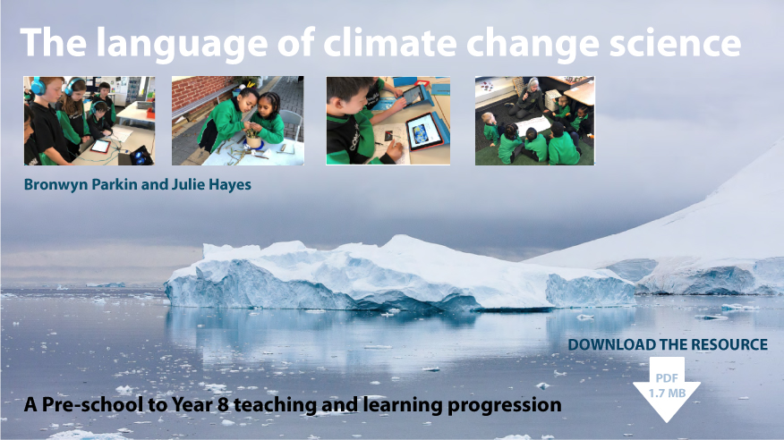 The language of climate change science banner linked to download