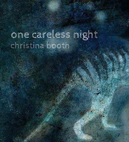 Grainy image of Thylacine on the cover of One Careless Night by Christine Booth